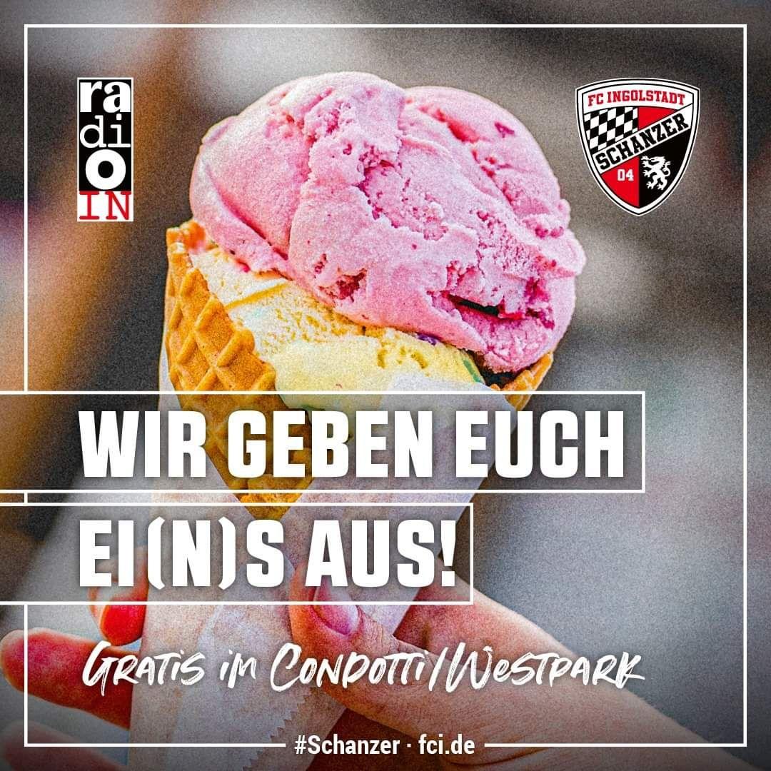 [Lokal Ingolstadt/Manching] Kostenlose Eis Aktion von Radio IN und dem FC Ingolstadt 04