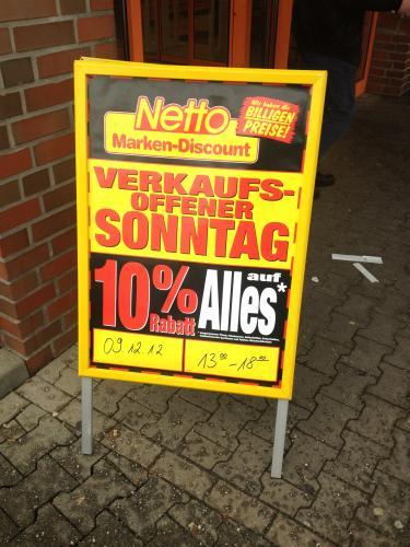 [#UPDATE#  nicht nur LOKAL AACHEN!!!!] 09.12.2012 NETTO 10% auf ALLES