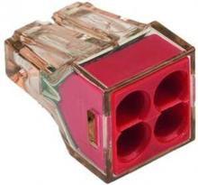 Wago 773-604 4Leiter bis 4qmm Deckel rot Dosenklemme ( 100Stk ) inkl Versand