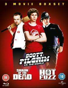 Scott Pilgrim Vs. The World / Hot Fuzz / Shaun Of The Dead (3 x Blu-ray) für 12.32€ @ Thehut