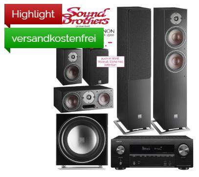 DENON AVR-X 1500 + DALI OBERON 7 -Paket schwarz oder weiß