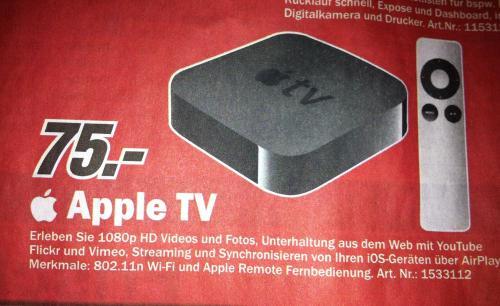 Apple TV 3. Generation in den Leipziger Media Märkten