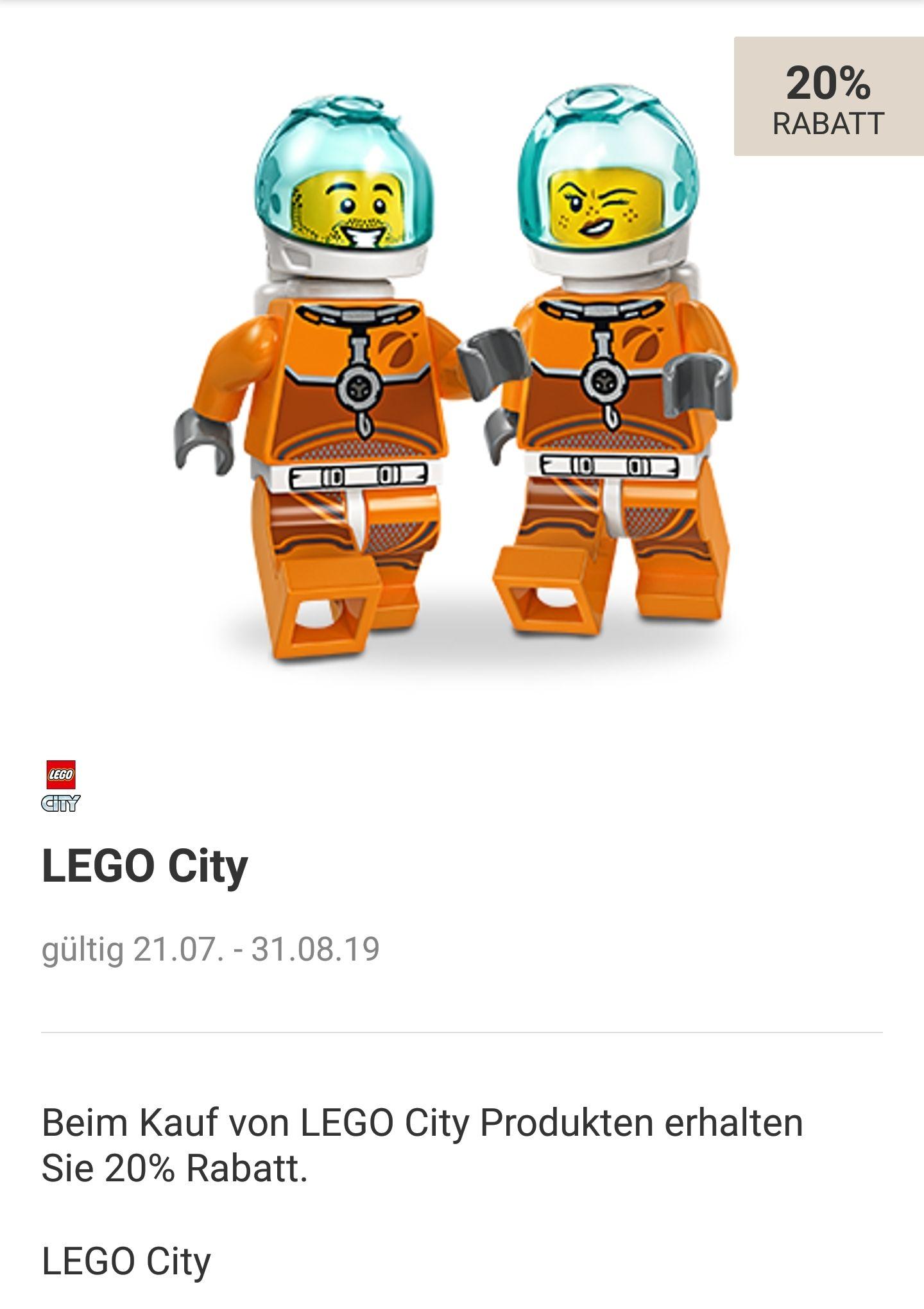 LEGO       20 % + 10% auf Lego City   bei Rossmann in der App
