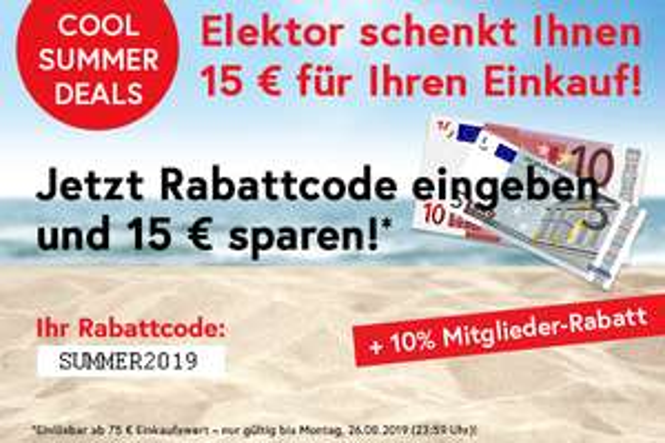Elektor 15 € Rabatt bei 75 € MBW