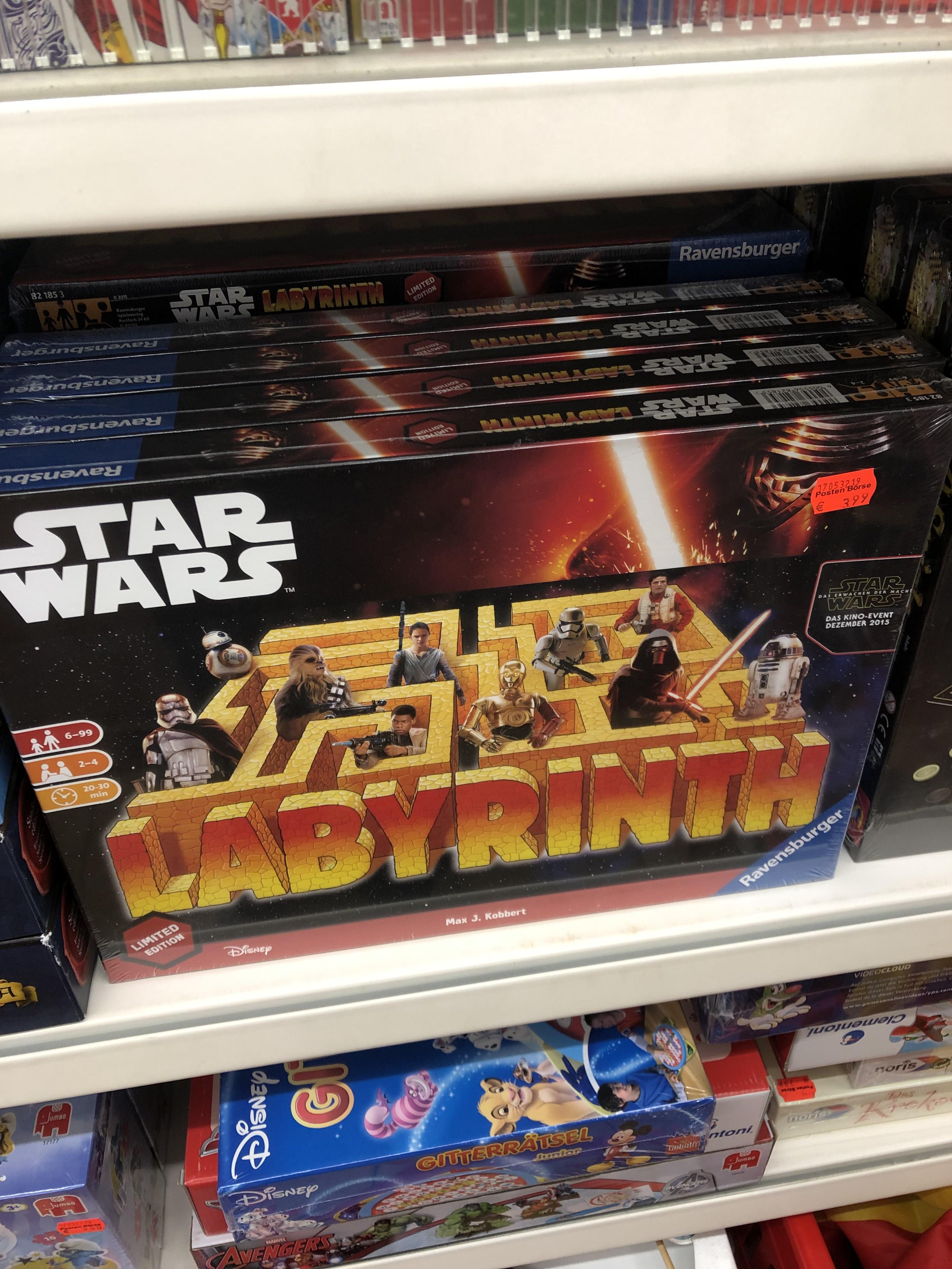 [Posten Börse in Dinklage] Das verrückte Labyrinth- Star Wars für 3,99€