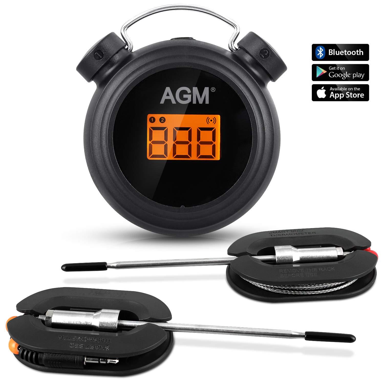 AGM Grillthermometer (2 Sonden, Bluetooth+App)