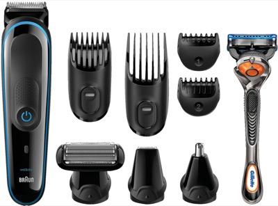 Multigrooming-Sets im Angebot bei MediaMarkt, z.B. Braun MGK 3085 Multigroomer mit Zubehör und Gillette Fusion5 ProGlide