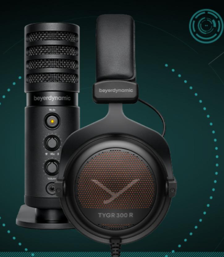 beyerdynamic TEAM TYGR! Bundle aus TYGR 300R und FOX USB-Mic. Wieder verfügbar! Bis zu 15% auf weitere Gaming-Headsets und Zubehör.