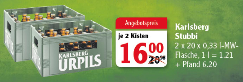 [GLOBUS] Karlsberg Urpils *Stubbi* (2 x 20 x 0,33l)