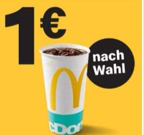 Mcdonald's 1 Softdrink 0,5l nach Wahl für nur 1€