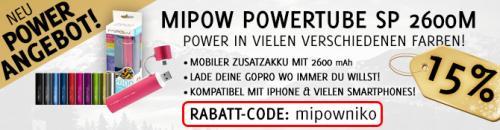 Mobiler Zusatzakku oder Ladergerät - MiPow Powertube 2600M