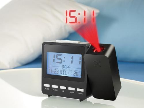 Funk-Projektionswecker mit Temperaturanzeige