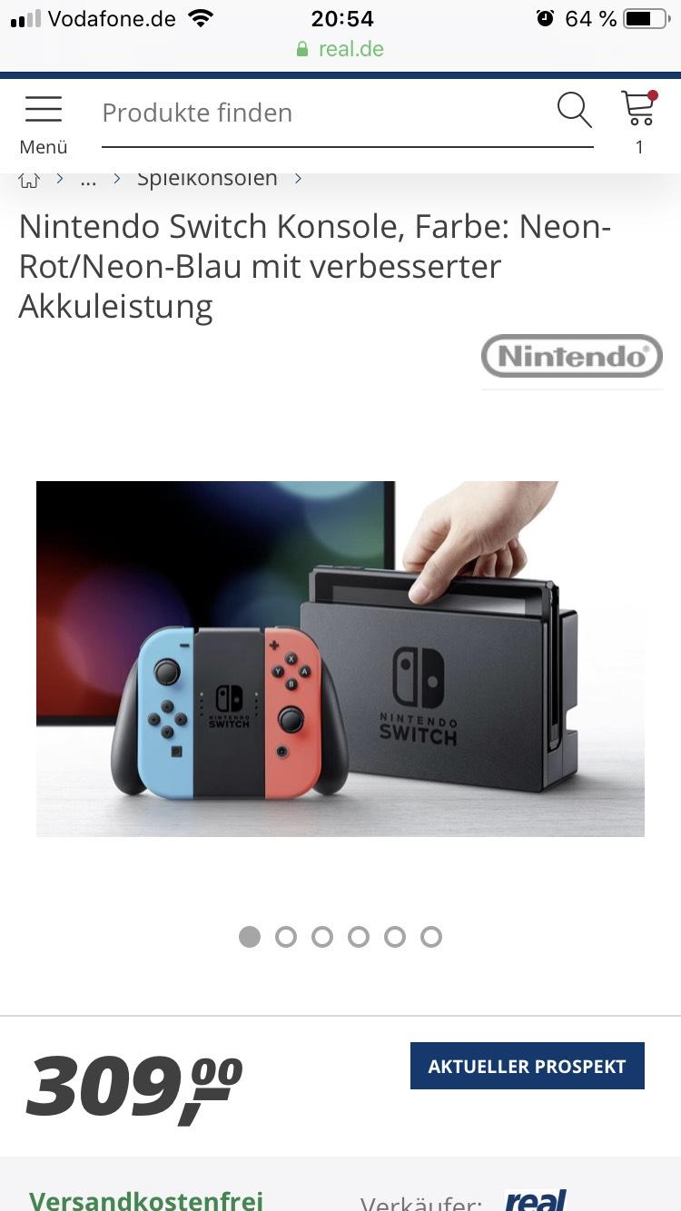 Nintendo Switch neue Revision bei Real für 309 € (nur noch Lokal)