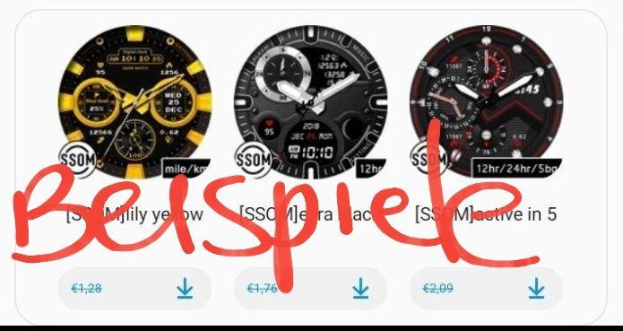 [Liste] Kostenloser Watchfaces im Galaxy Store für Smartwatch [Samsung]