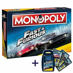 Monopoly Fast and Furious + Quartett Kartenspiel (im VGL nicht addiert!)