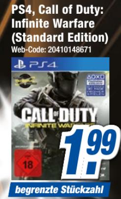 [Expert bundesweit Filialabholung] Call of Duty: Infinite Warfare / Destiny 2 PS4 für je 1,99€ | God of War PS4 für 24,99€