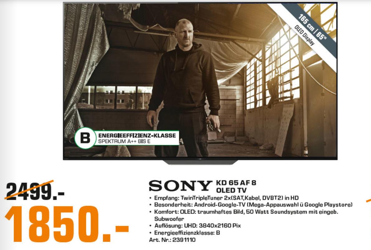 Sony KD 65 AF8 BAEP , 65 Zoll OLED, LOKAL Saturn Osnabrück!