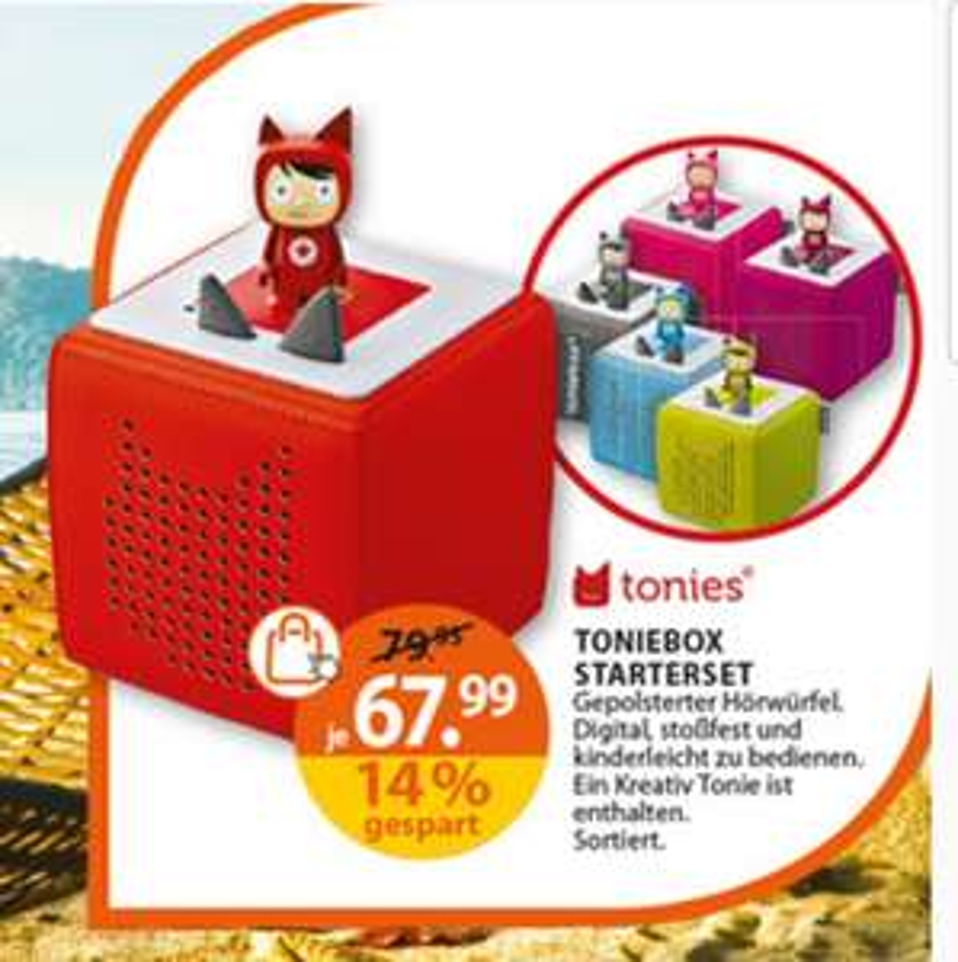 Tonies Toniebox + Kreativ-Tonie günstig mit Rossmann-Gutschein