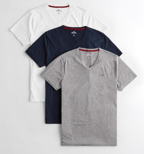 Bis zu 40% Rabatt auf lockere Styles bei asos, z.B. 3er Pack Hollister T-Shirts