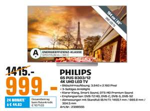 "[Lokal: Saturn Saarbrücken] Philips 65PUS8303 65"" 4K TV 