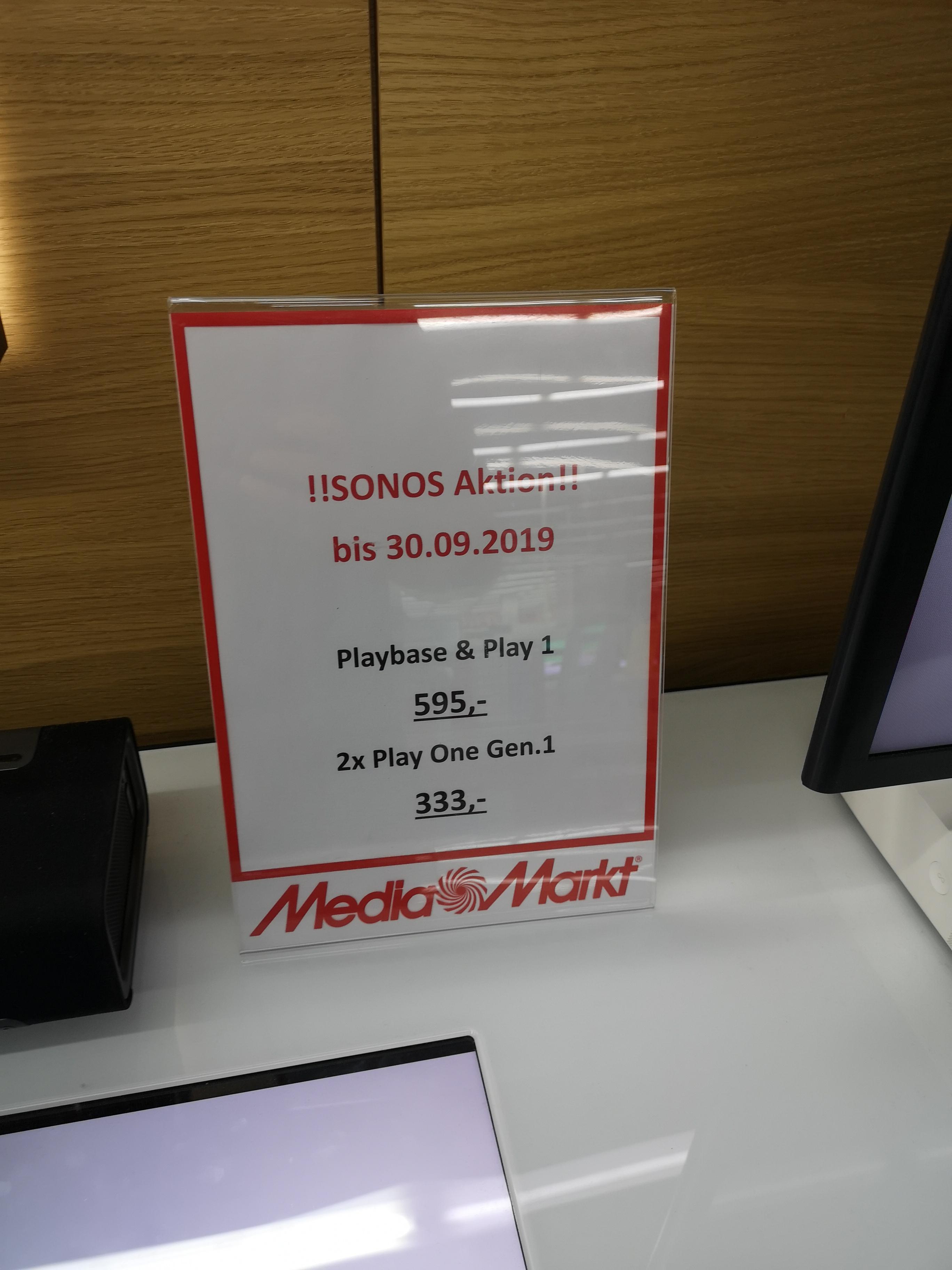 Sonos Playbase + Sonos Play 1