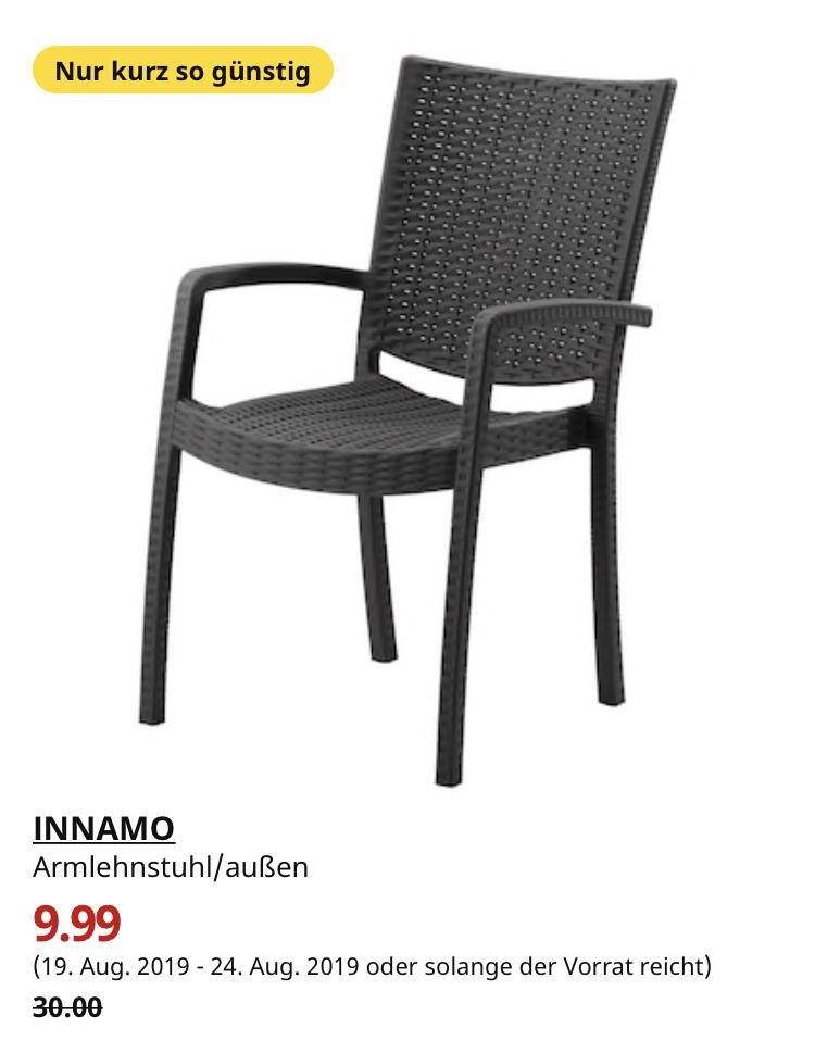 (IKEA Köln Am Butzweilerhof) INNAMO Armlehnstuhl/außen, dunkelgrau oder weiß