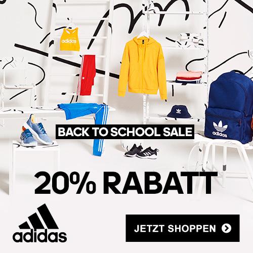 Back to School bei adidas mit 20% Rabatt auf ausgewählte Kleidung & Sneakers (auch Sale)