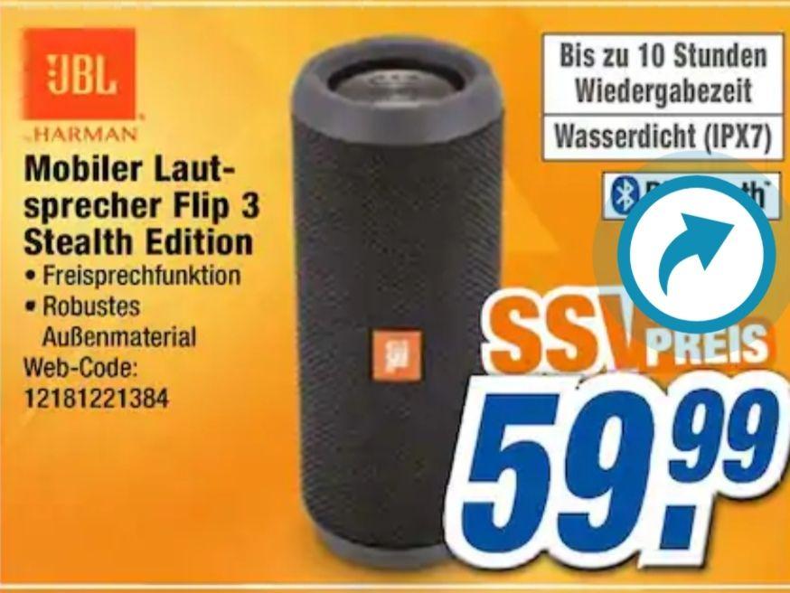 [Lokal Neuss] JBL Flip 3 Stealth Edition 59,99€ & Kingston HyperX Cloudsilber 59€