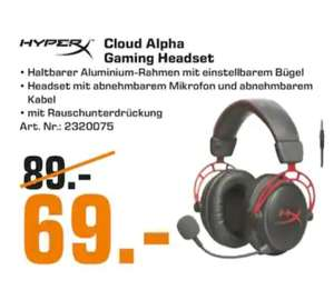 [Lokal] Saturn Nordenham - Kingston HyperX Cloud Alpha