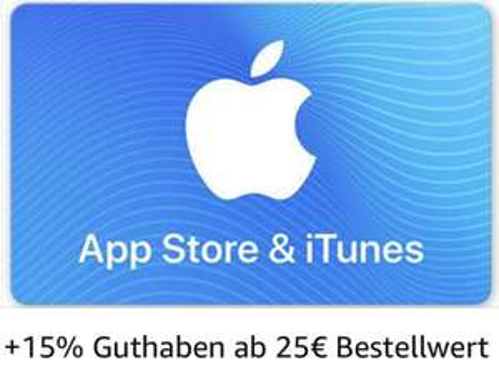 15% mehr Guthaben im App Store & bei iTunes - 25€, 50€ o. 100€ möglich [Amazon]