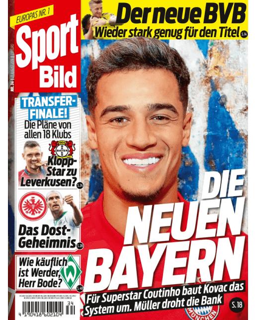 """Abo-""""Hattrick"""" bei der Sport-Bild für 13 Ausgaben für 17,90 € und 15€ Amazon GS ontop"""