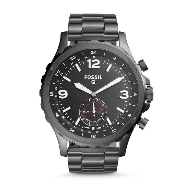 FOSSIL: Herren Hybrid Smartwatch NATE - EDELSTAHL - GRAU