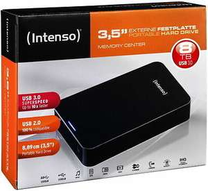 "Intenso Memory Center - 8TB HDD (Externe Festplatte, 3,5"", USB3)"