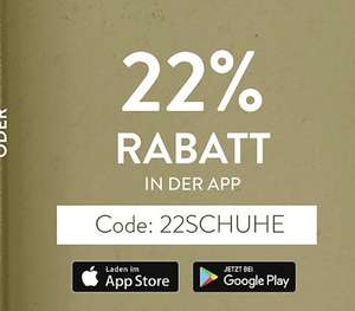 22% Rabatt bei Mirapodo in der App