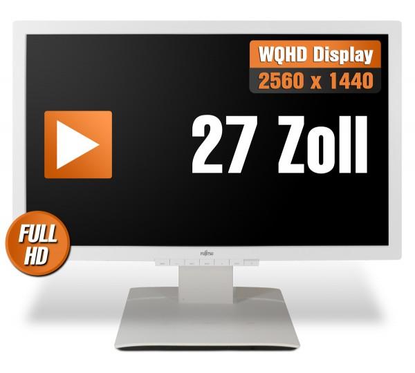 Fujitsu Display P27T-6 IPS - 27 Zoll TFT Flachbildschirm Monitor - weiss - WHQD - Gebraucht