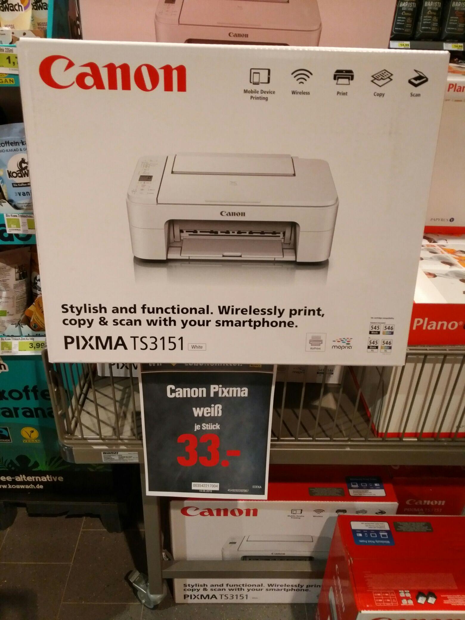 WLAN Drucker Canon Pixma TS3151 für 33,- [Edeka - ggfs lokal Vöhl?]