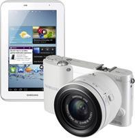 [Schweiz] SAMSUNG Systemkamera NX1000 white + Tablet P3110