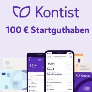 Kostenloses Kontist Girokonto mit 100€ Startguthaben für 100€ Umsatz [für Geschäftskunden, ohne Einfluss des Scores]
