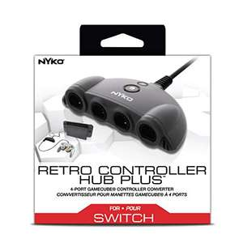 [Prime] Nyko Retro Controller Hub Plus: 4-Port GameCube Controller-Adapter mit Turbo und Home Button für die Nintendo Switch