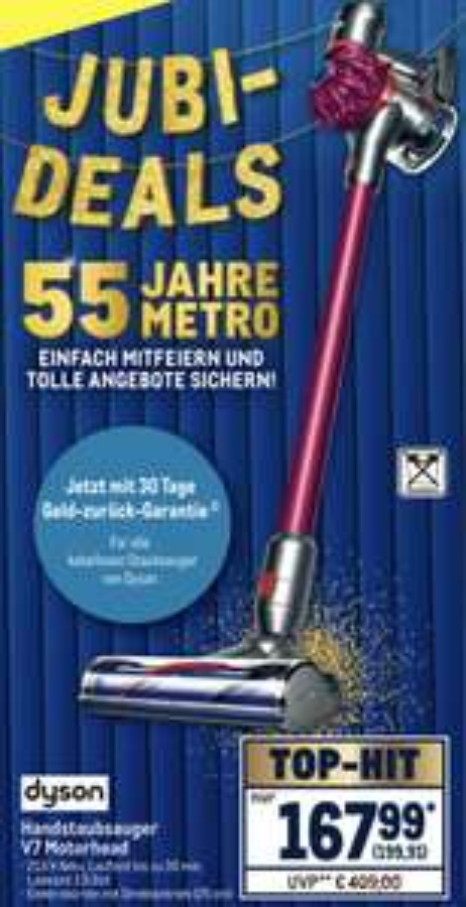 Ab 05.09. Metro: Dyson V7 Motorhead Handstaubsauger für 199,91€ - mit NL Gutschein 189,91€ möglich