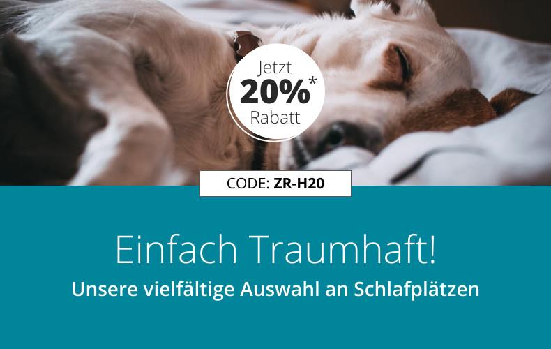 20% Rabatt auf alle ZooRoyal Hundeschlafplätze, Hundebetten, Hundekissen und Decken