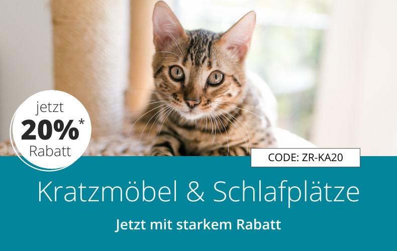 20% Rabatt auf alle ZooRoyal Kratzmöbel & Schlafplätze www.zooroyal.de