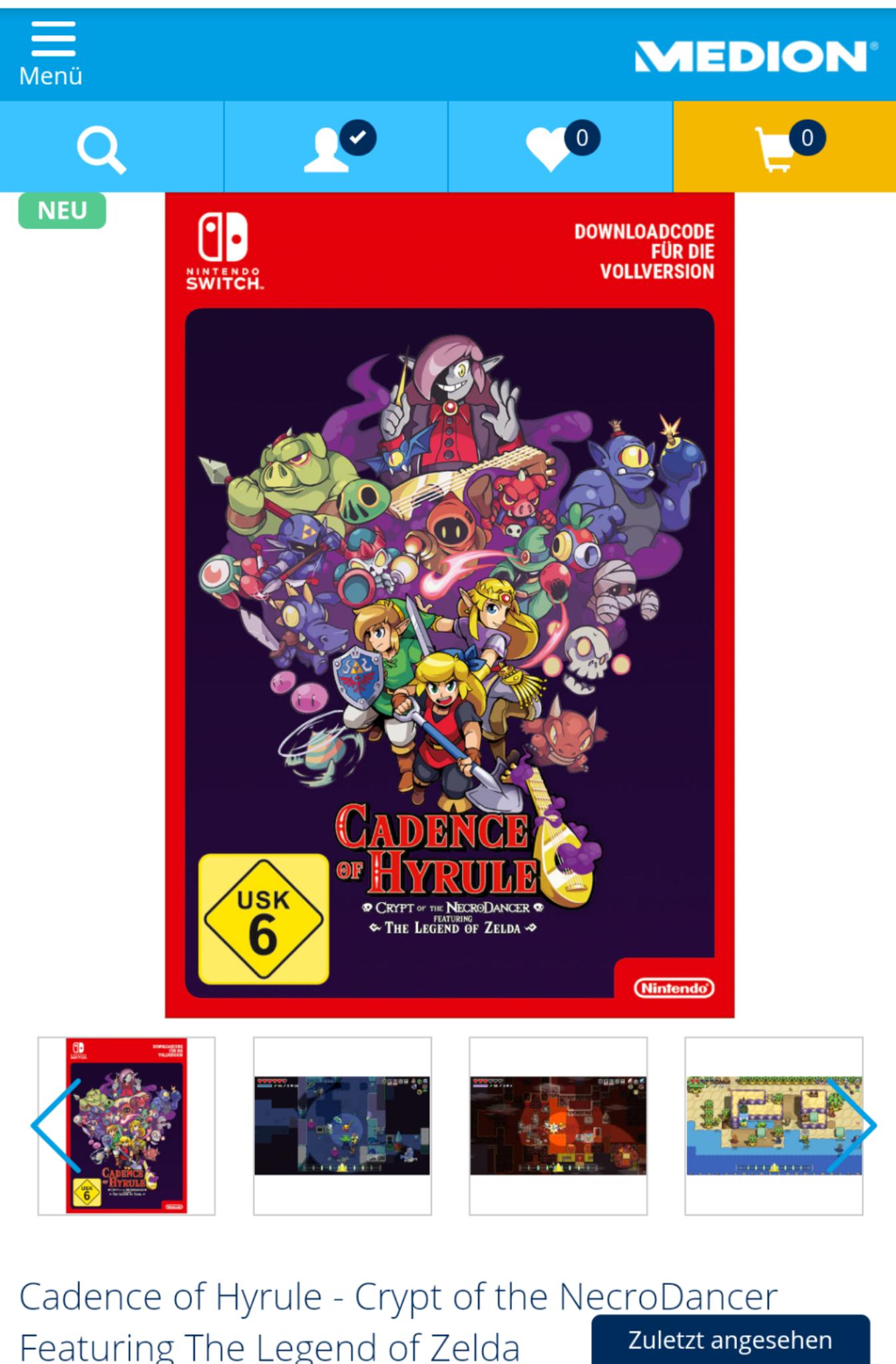 Cadence of Hyrule (Nintendo Switch)