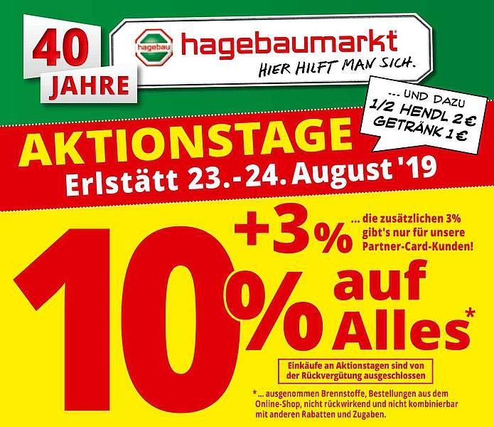 [Lokal] Hagebaumarkt Erlstätt - 10% auf alles (3% für Partner-Card-Kunden on top)