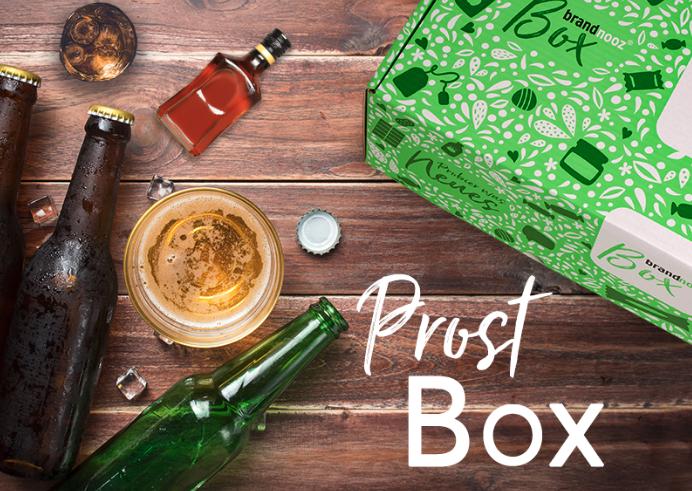 brandnooz Prost Box: 6x Bier + 3x Craft Beer + 7 kleine Schnäpse