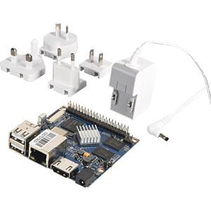 Banana Pi M2+ (BPI-M2+) 1GB DDR3, WLAN, BT, Allwinner H3 Quad-Core CPU (4x1GHz) Einplatinencomputer ink. Netzteil (inkl. Versand @reichelt)