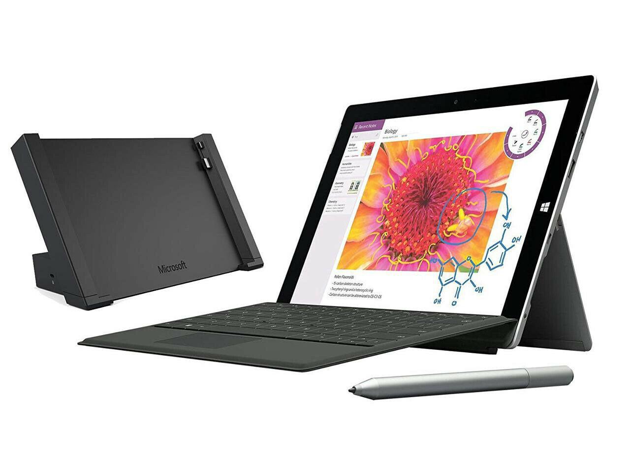 Microsoft Surface 3 10.8 128GB 4G QWERTY (refurbished)  inkl. Docking Station, Tastatur und Stift