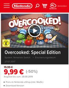 Overcooked: Special Edition Nintendo Switch im eShop