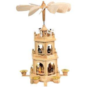 Brauns-Heitmann 7949 Weihnachtspyramide, 3-stöckig, ca. 44 cm für 22,98€ @ Amazon.de