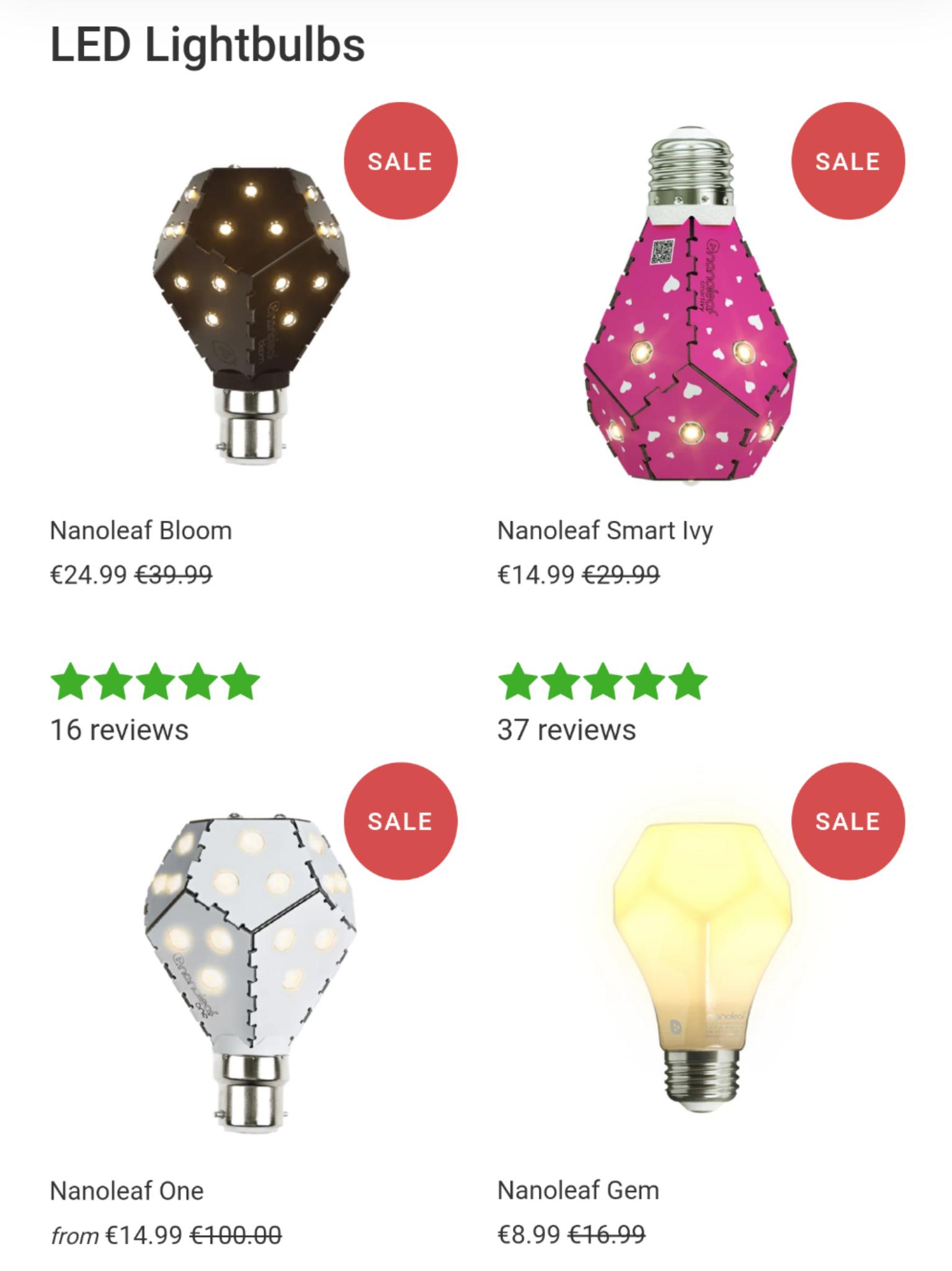 Nanoleaf LED Lampe geschenkt mittels Gutscheincode, nur Versandkosten zahlen! Bloom, One, Gem, Smart Ivy